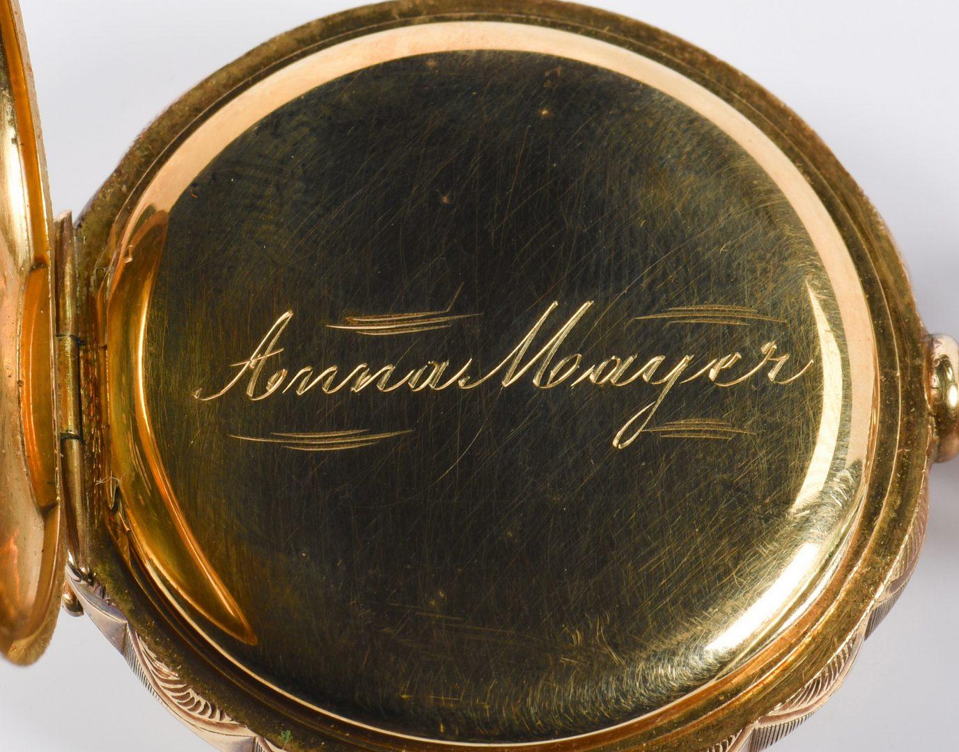 Lot 949: Hampden 14K Gold Hunting Case Watch