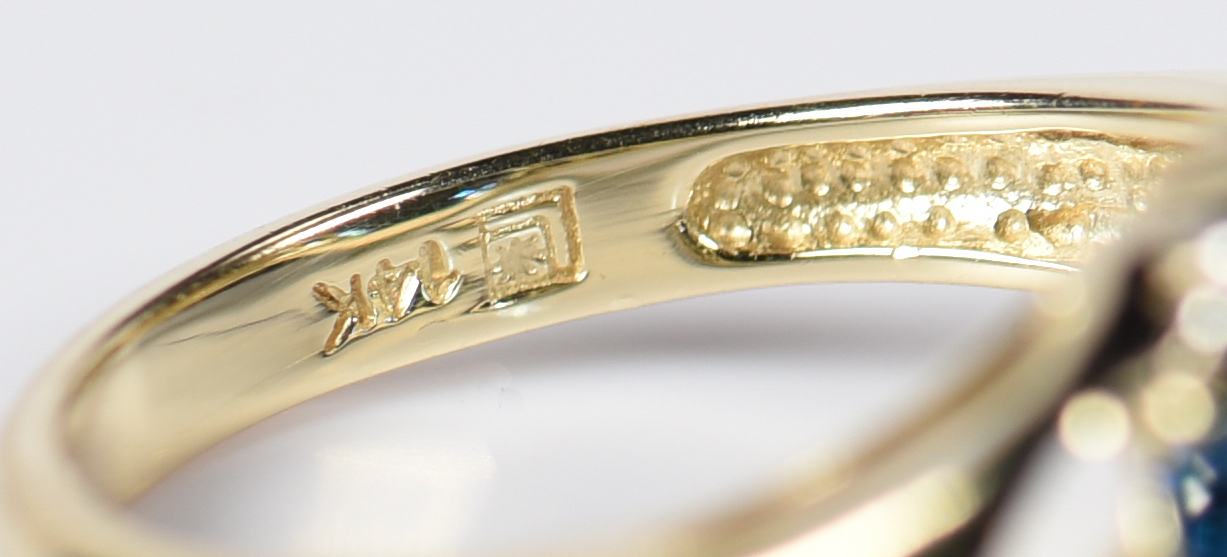 Lot 956: 3 14K Ladies Fashion Rings