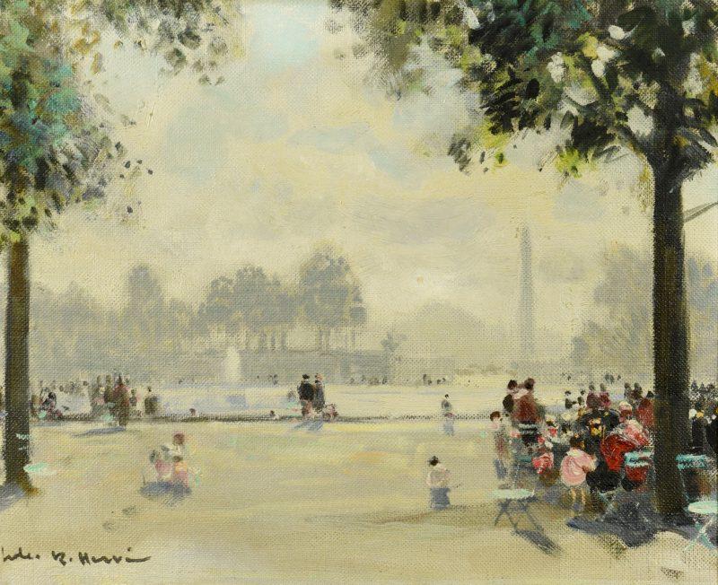 Lot 95: Jules Rene Herve O/C, Tuileries Fountain
