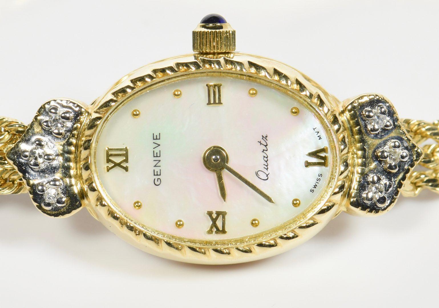 Lot 960: 2 Ladies 14K Diamond Watches