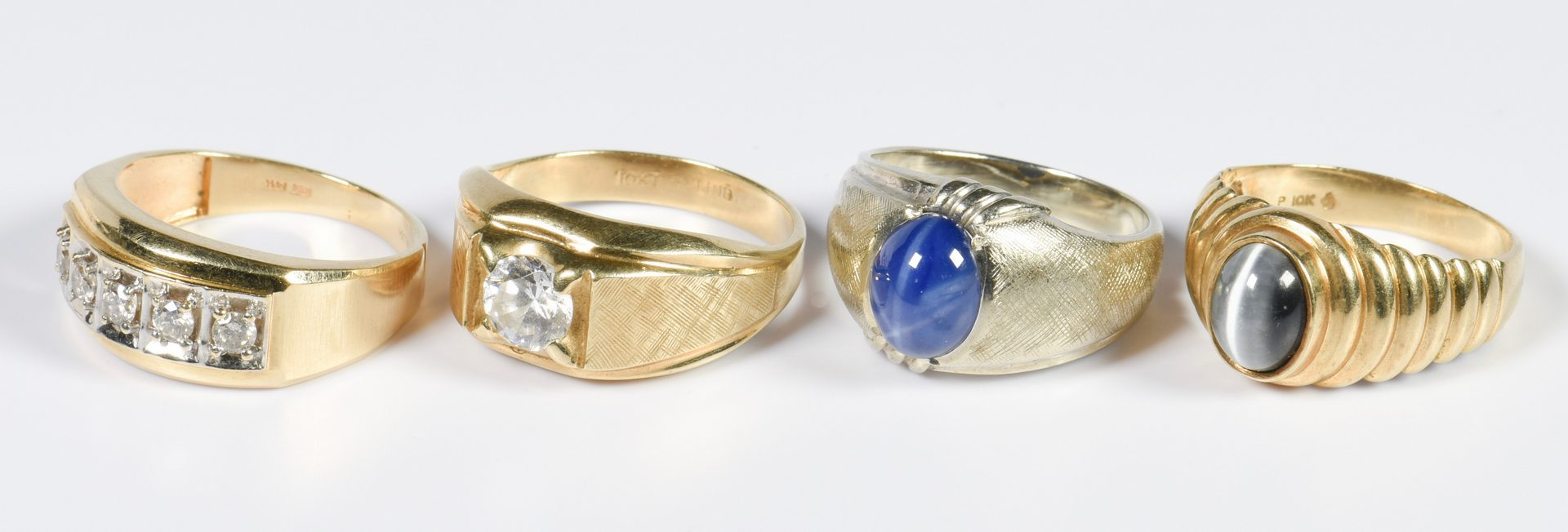 Lot 963: Gents Gold Rings and Cufflinks, 6 items
