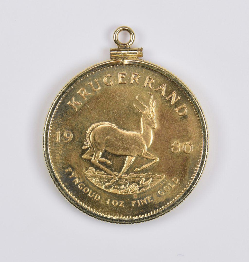 Lot 980: 1 oz 22K Gold South African Krugerrand, 1980