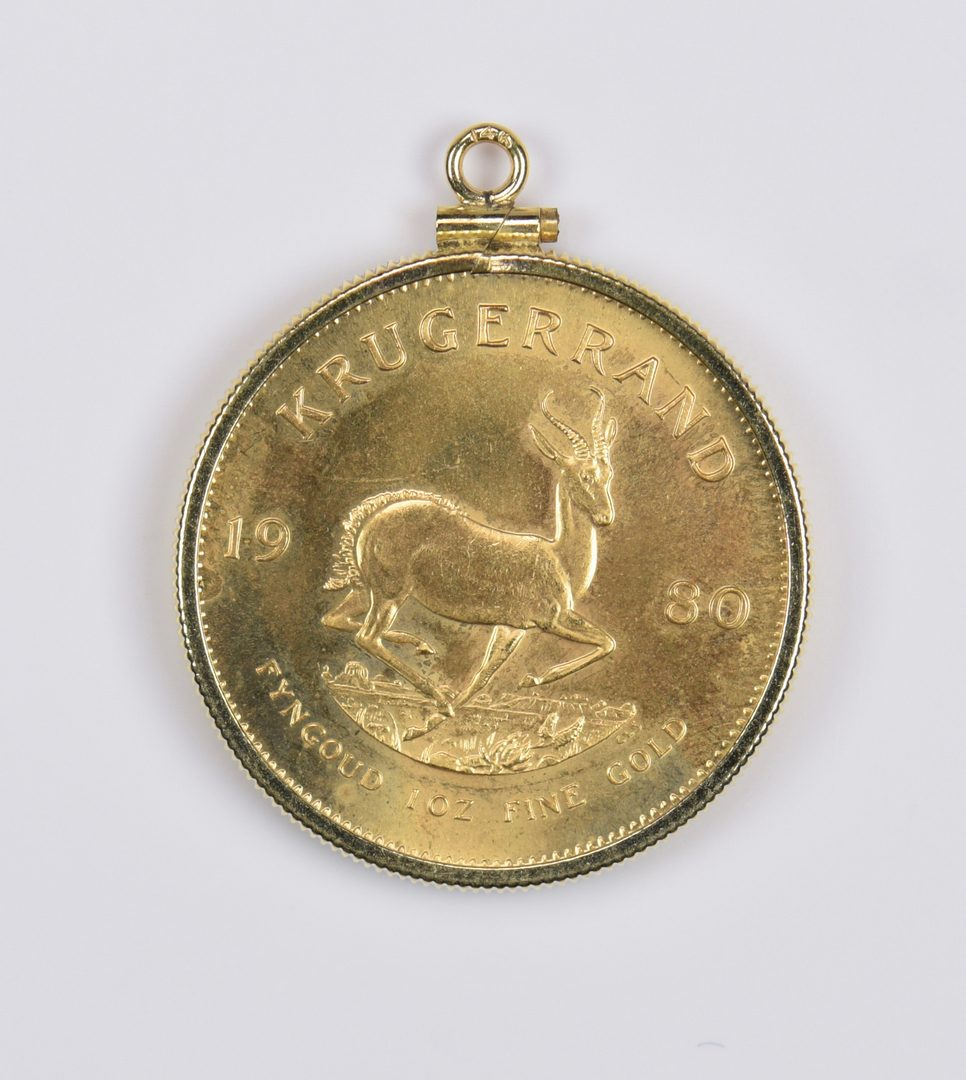 Lot 982: 1 oz 22K Gold South African Krugerrand, 1980