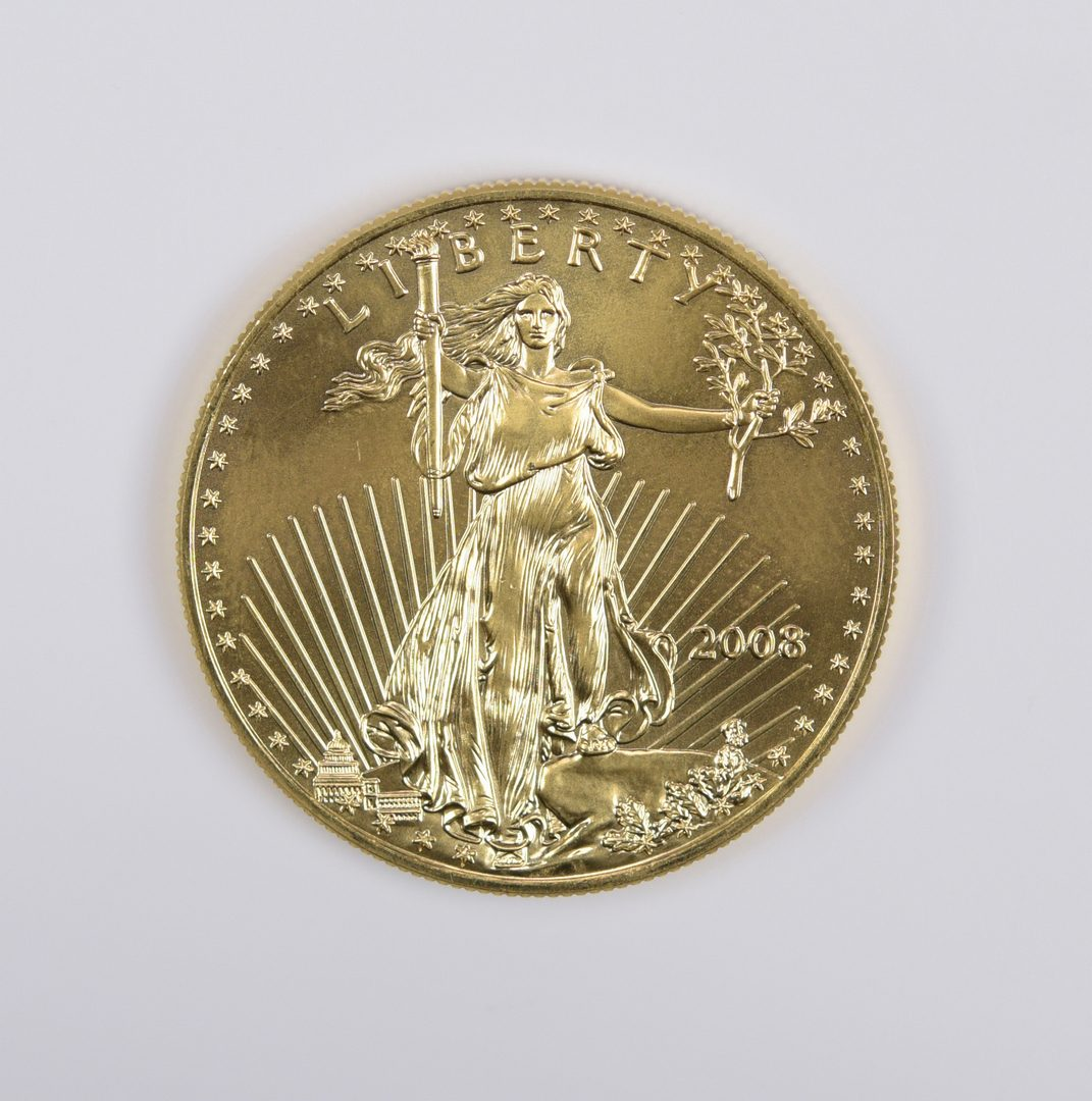 Lot 983: 1 oz 22K American Gold Eagle Coin, 2008