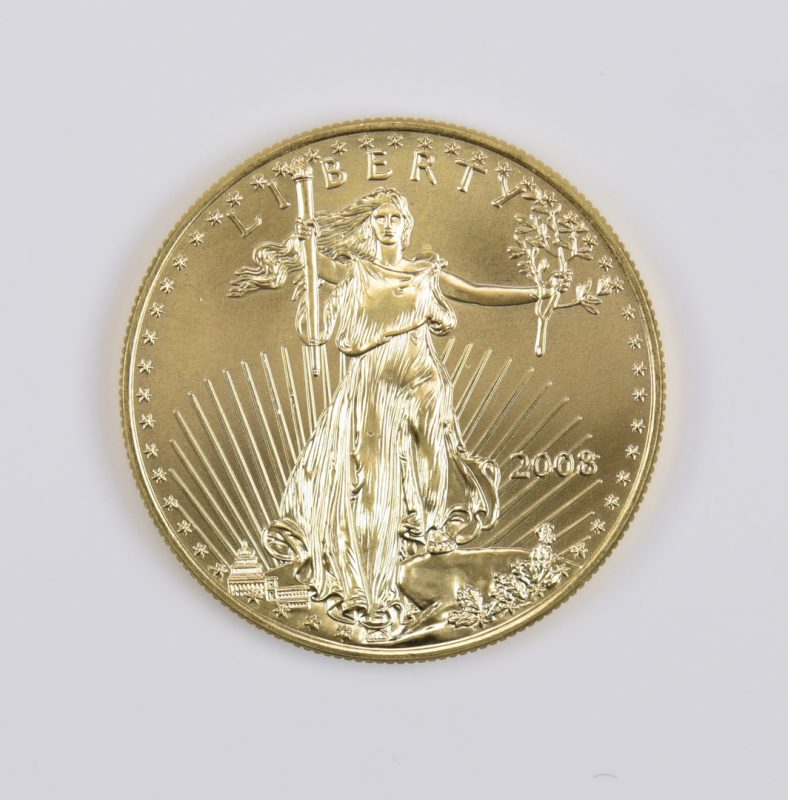 Lot 984: 1 oz 22K American Gold Eagle Coin, 2008