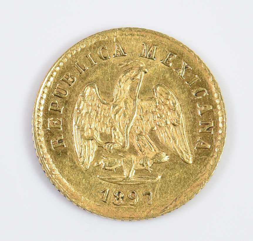 Lot 985 1897 Gold Peso Amp 1834 Us 2 1 2 Gold Coin