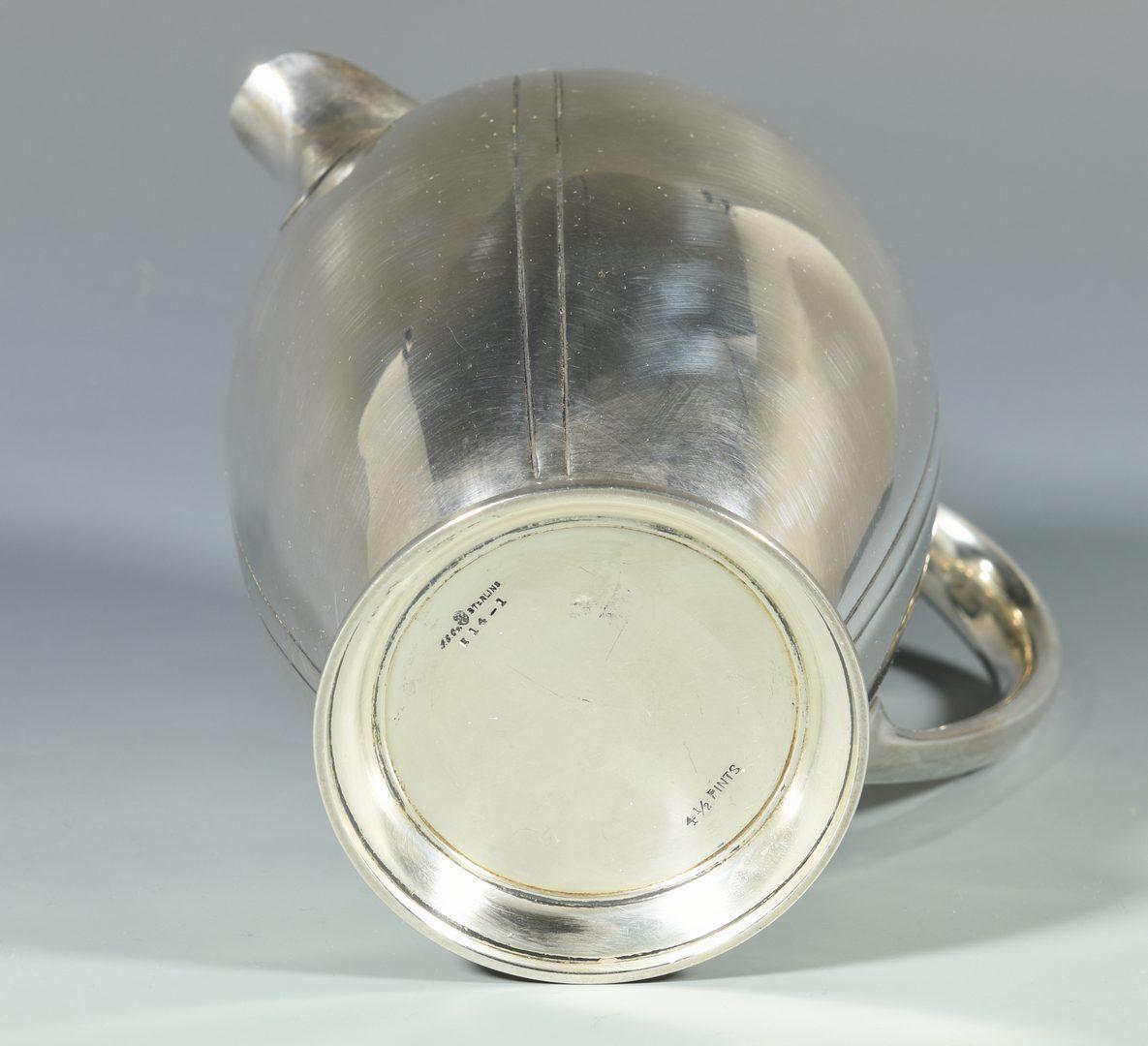 Lot 987: International Sterling Water Pitcher, Sedan Pattern
