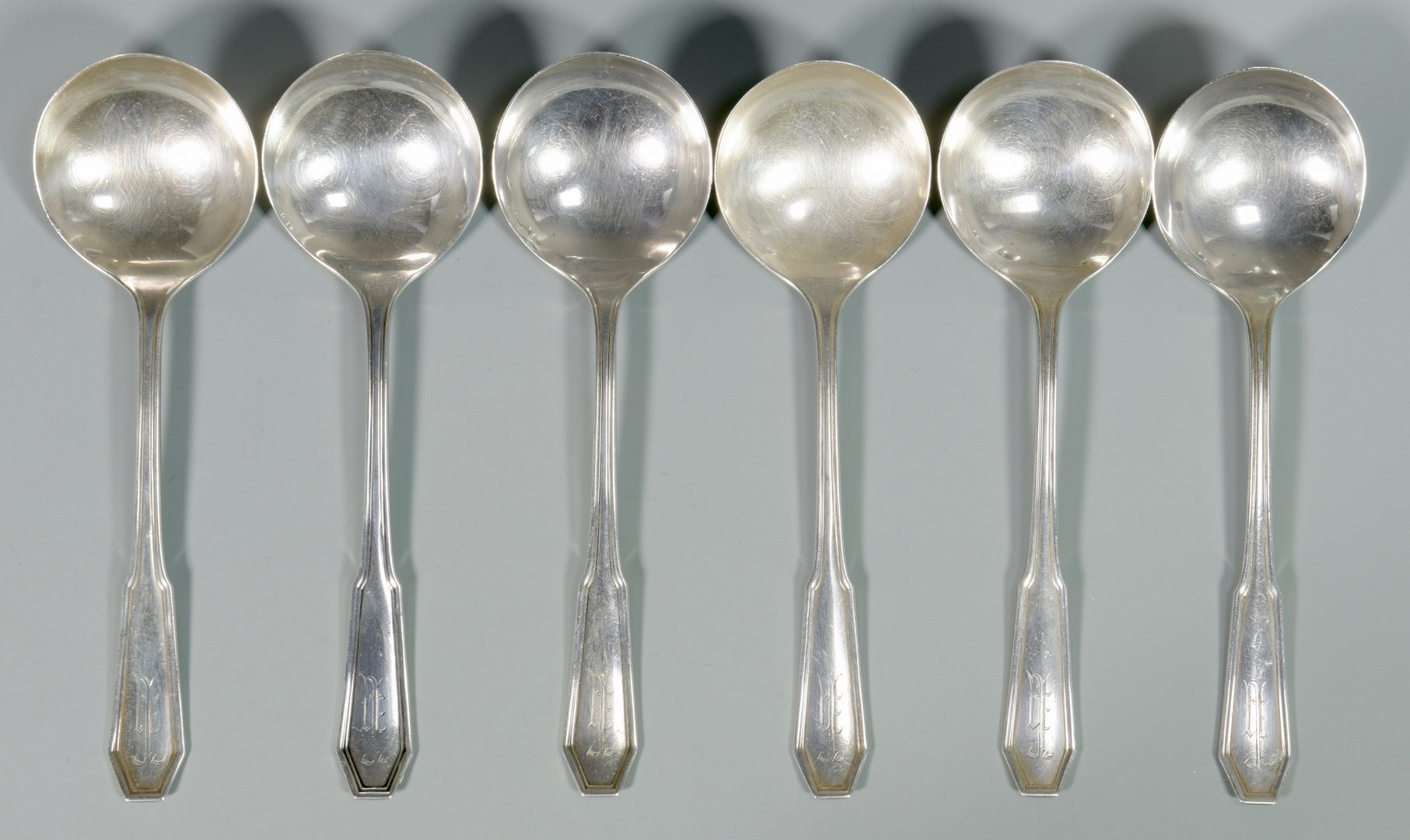 Lot 988: 17 Pcs. Sterling Silver: Cups, Plates, Spoons