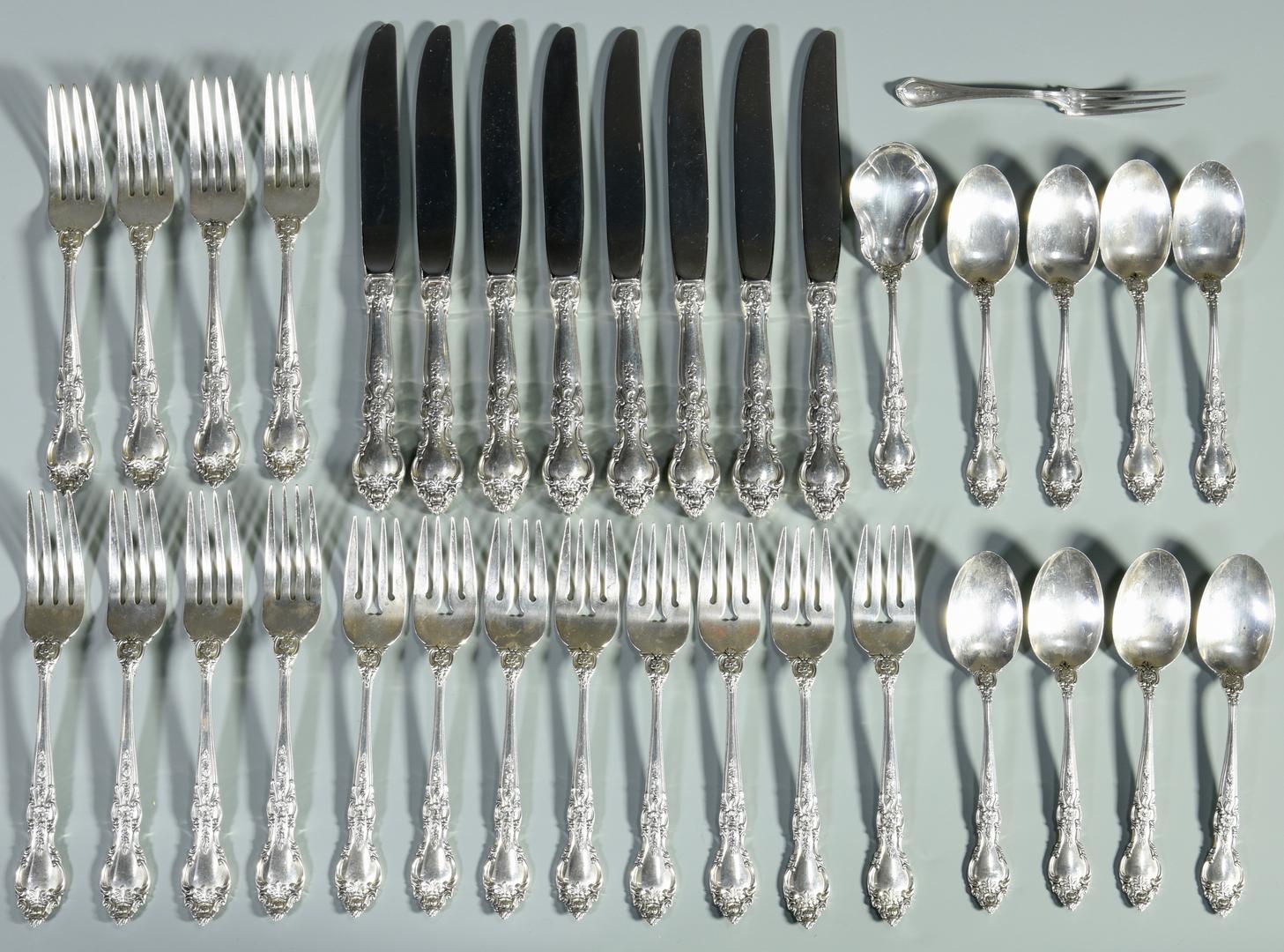 """Belvedere by Lunt Sterling Silver Regular Fork 7 1//4/"""" Flatware"""