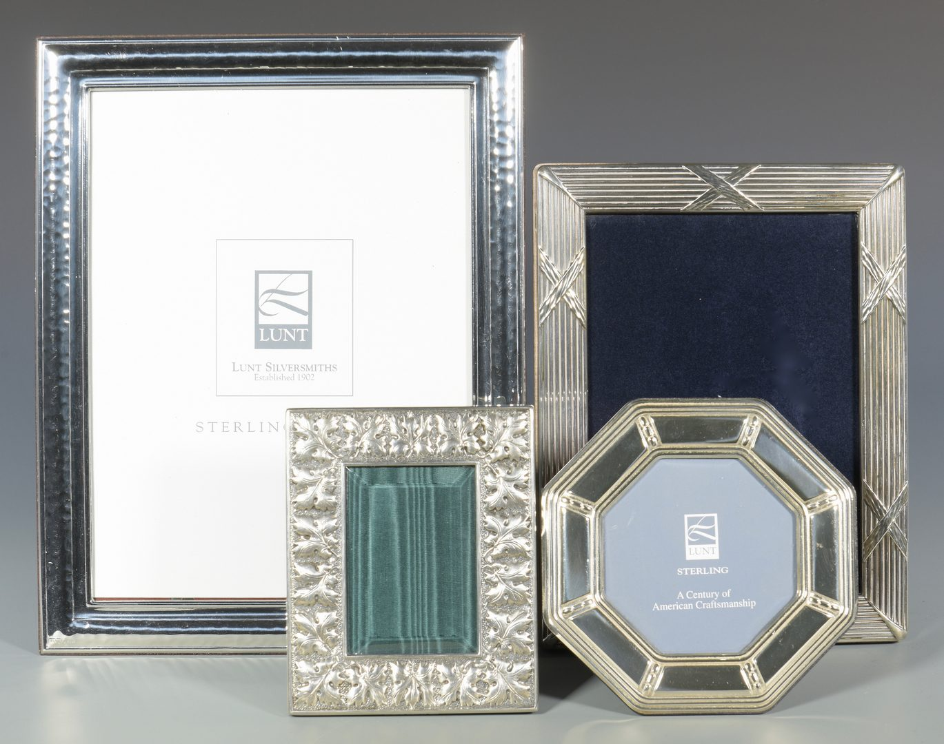 Lot 992: 4 Sterling Silver Frames, incl. Buccellati