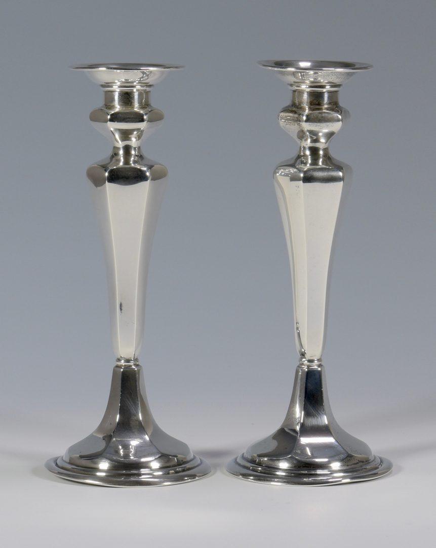 Lot 994: Sterling Candelabra & Candlesticks, 2 pr