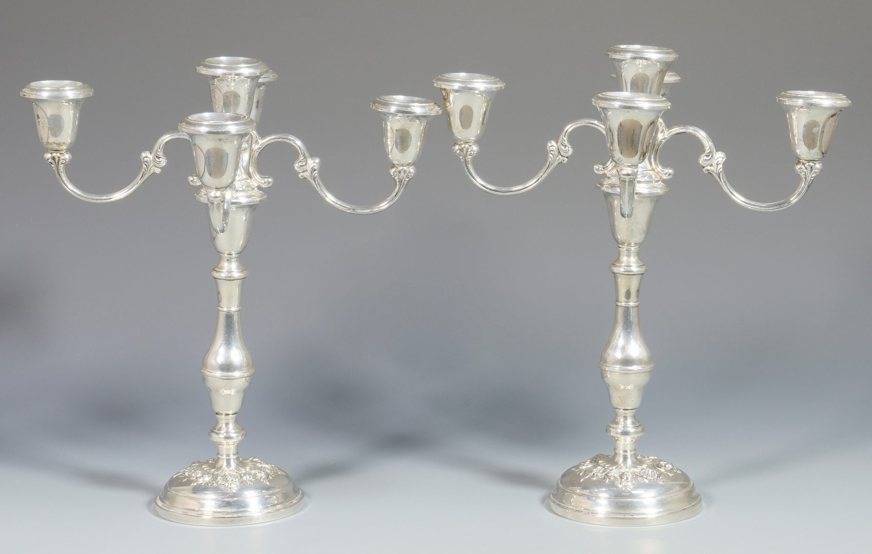 Lot 997: Pair Gorham Sterling Candelabra, Buttercup