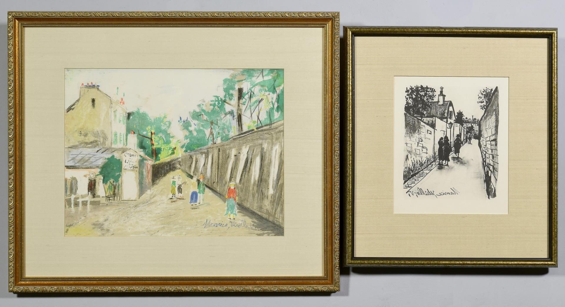 Lot 107: 2 Maurice Utrillo Colored Lithographs