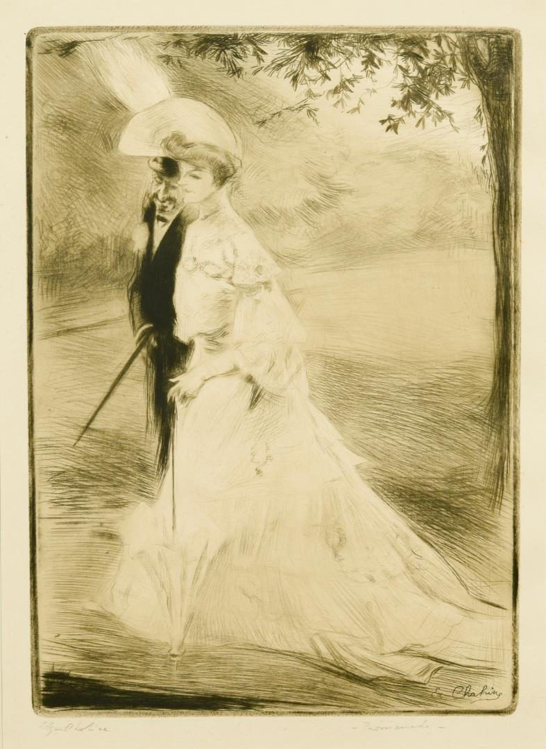 Lot 108: Chahine Drypoint and Raffaelli Etching, French