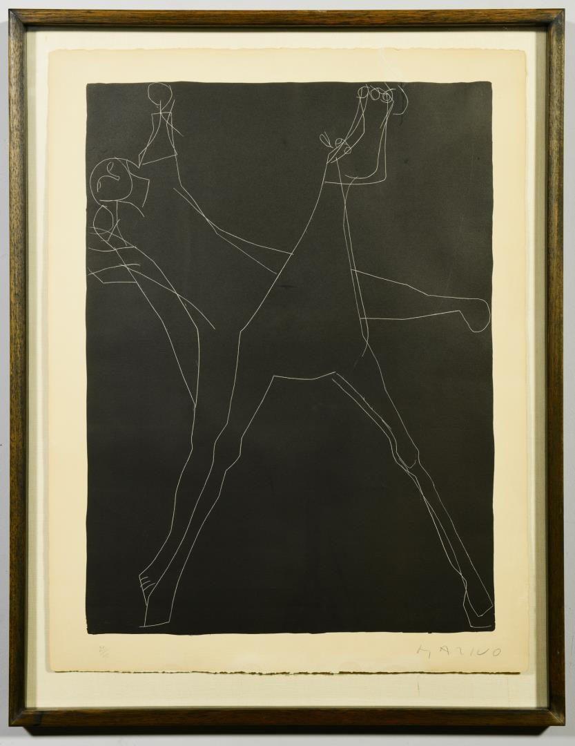 Lot 111: Marino Marini abstract litho, framed