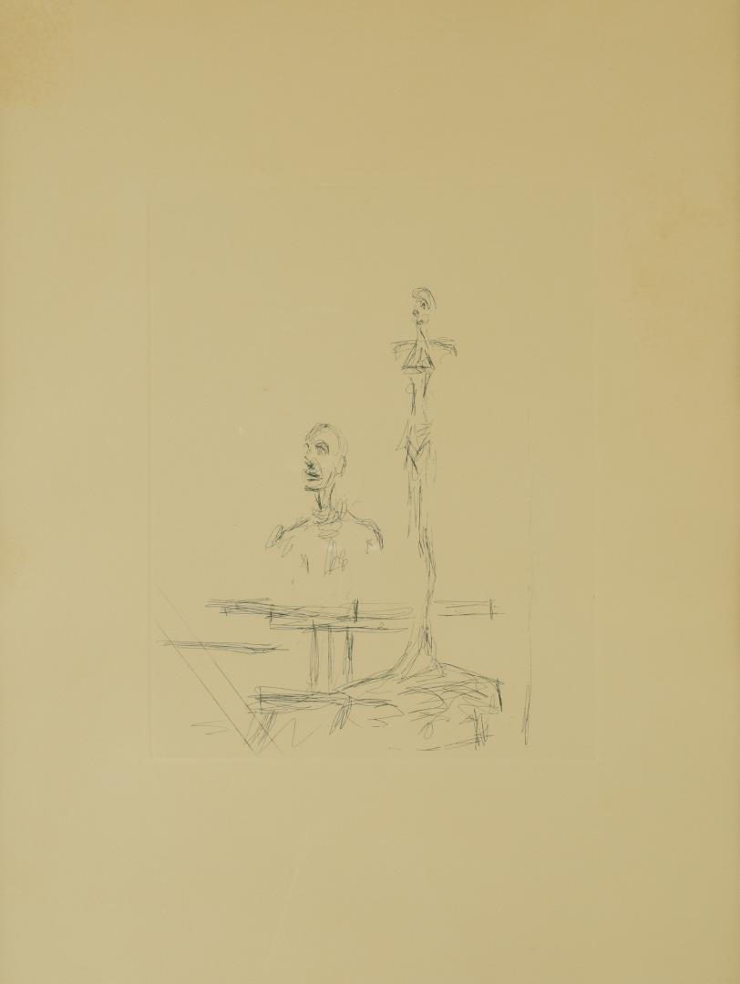 Lot 114: Etching After Alberto Giacometti, The Search
