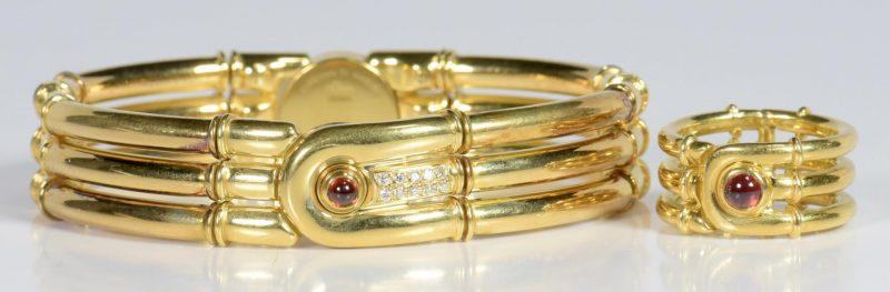 Lot 11: Di Modolo 18K Ring and Bracelet Set
