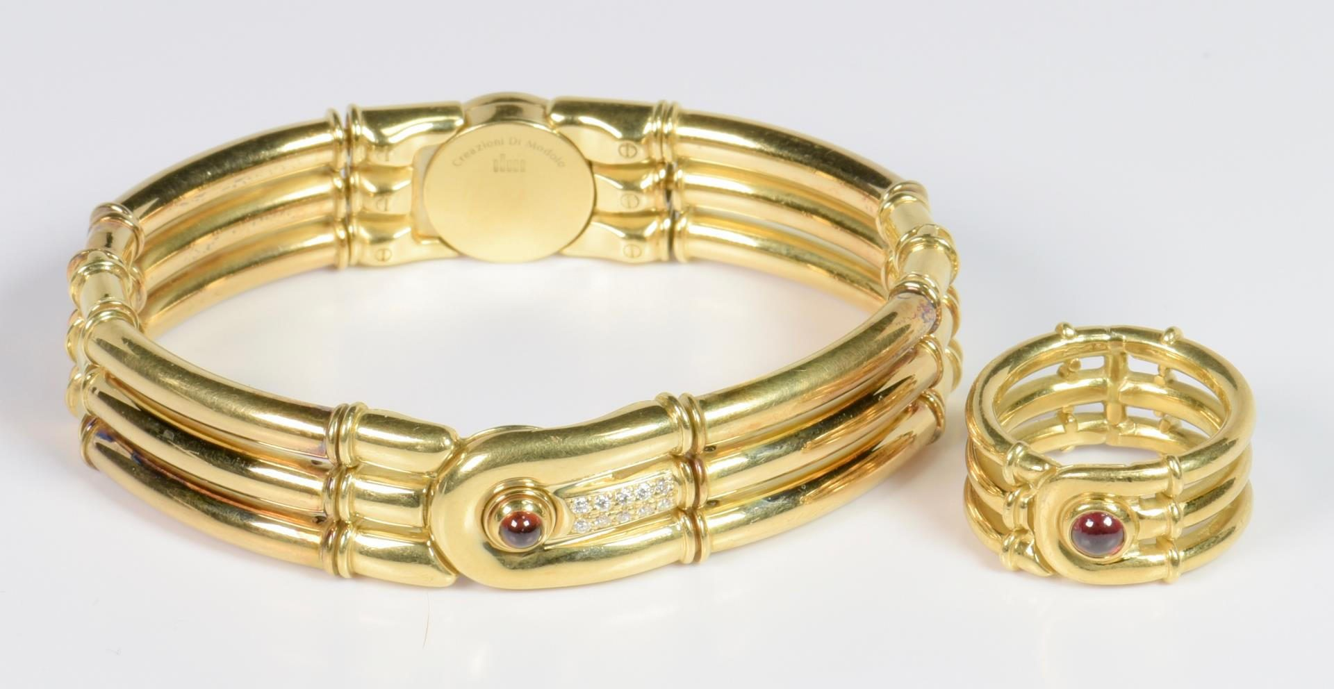Lot 11: Di Modolo 18K Ring and Bracelet Set