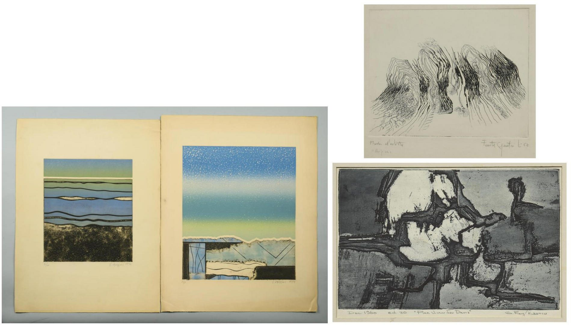 Lot 120: 4 Modern Prints, incl. G. Raymond Kerciu