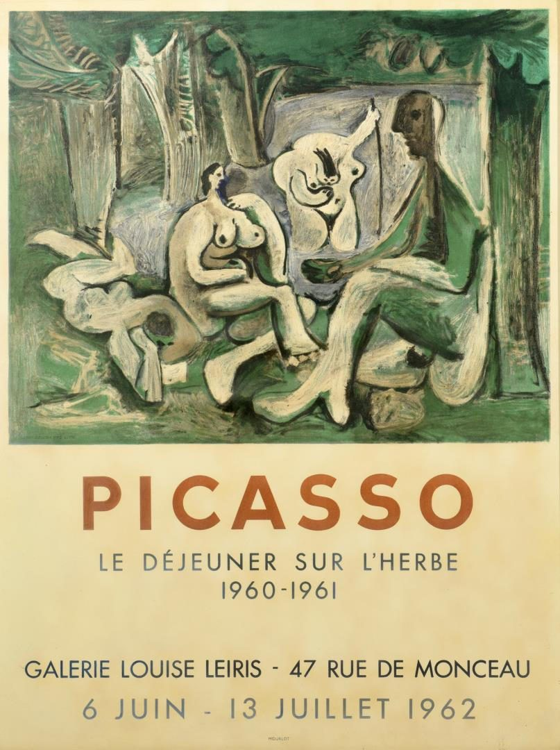 Lot 121: 2 Modern Lithographs, incl. Picasso Poster