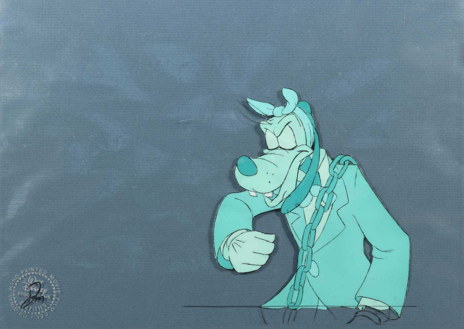 "Lot 123: 2 Disney ""Mickey's Christmas Carol"" Animation Cels"