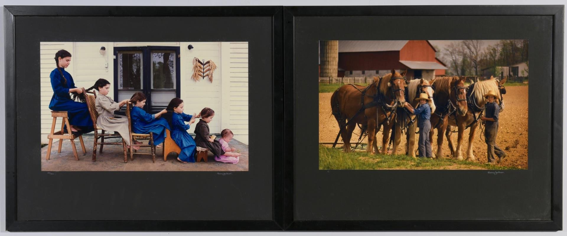 Lot 124: 2 Barry Jackson framed photos of Amish