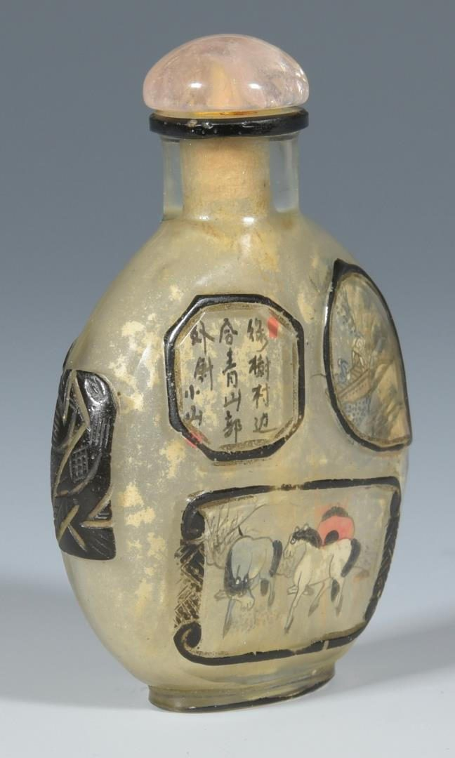 Lot 128: Asian Snuff bottle, Imari and Ewer – 4 items