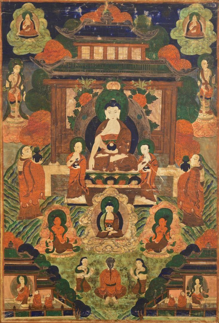 Lot 133: Sino-Tibetan Thangka