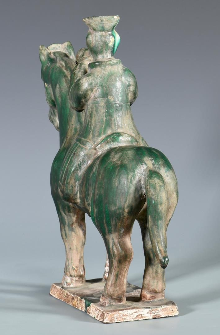 Lot 135: Chinese Pottery Tang Style Horse & Rider