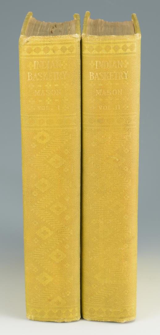 Lot 145: Mason. Indian Basketry (2 volumes),  First Edition;   Holmes. Aboriginal Pottery of the Eastern United States.