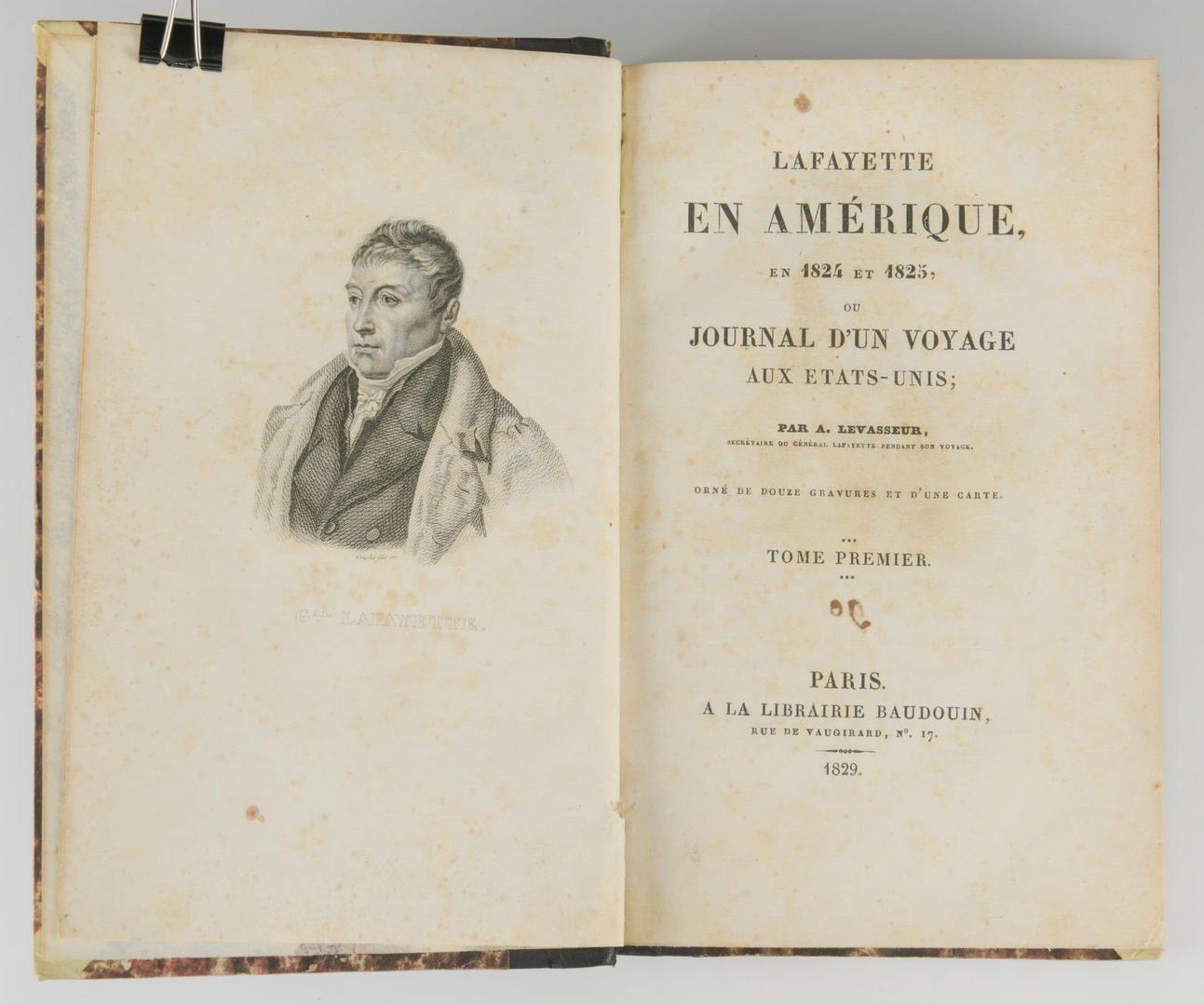 Lot 146: Levasseur, Lafayette AmÈrique 1829 with MAP.