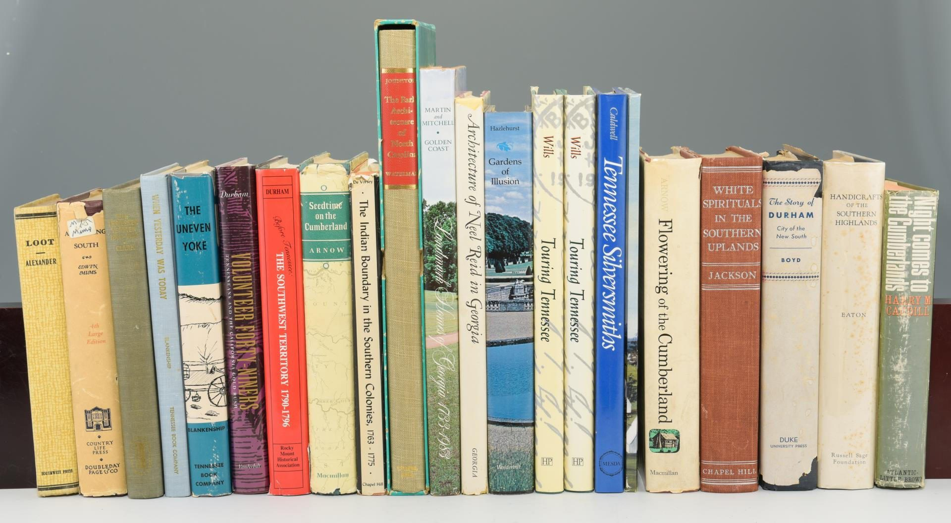 Lot 148: Lot of 22 Miscellaneous Southern Books inc/TN