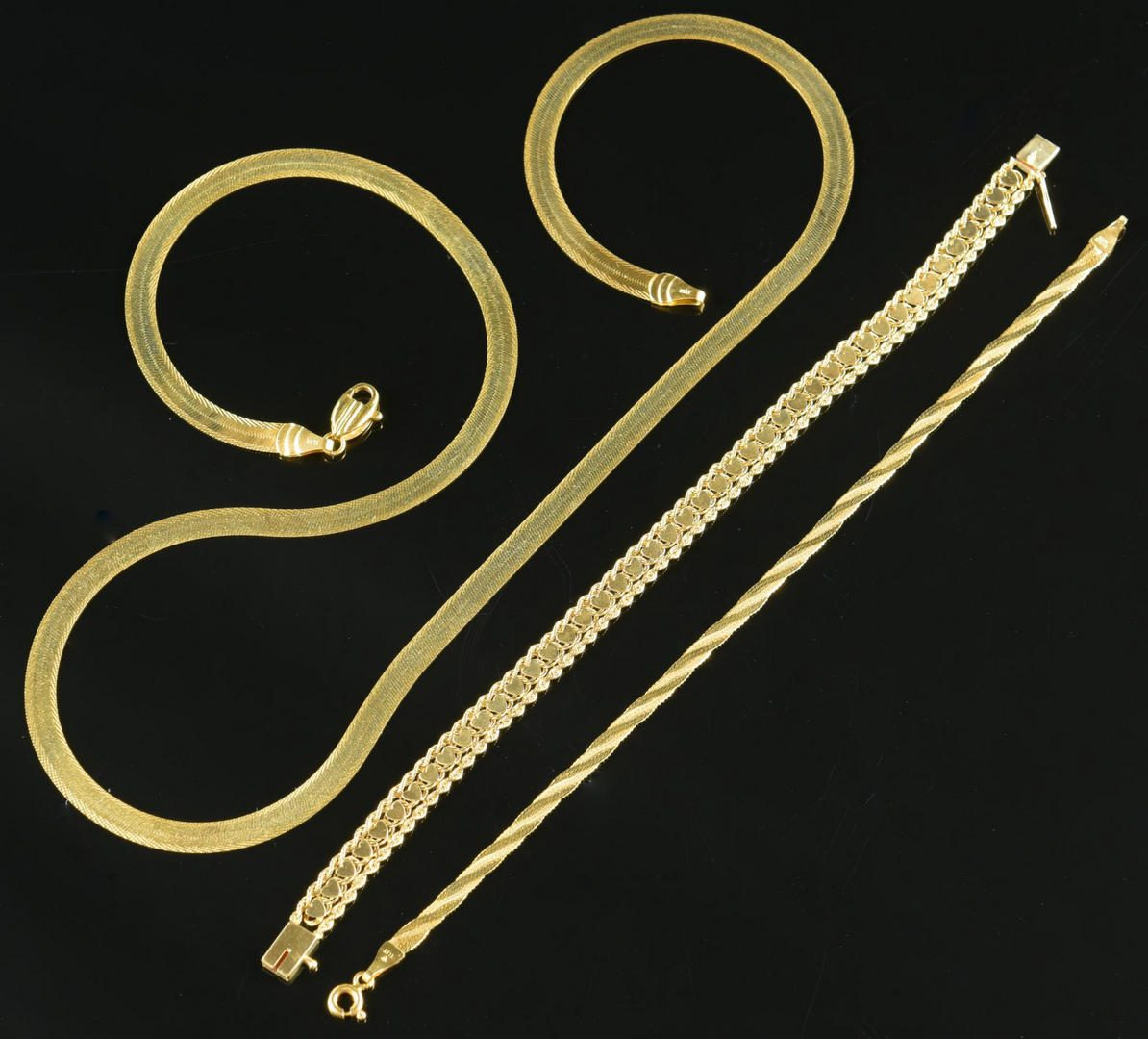 Lot 14: 14K Necklace & Bracelets