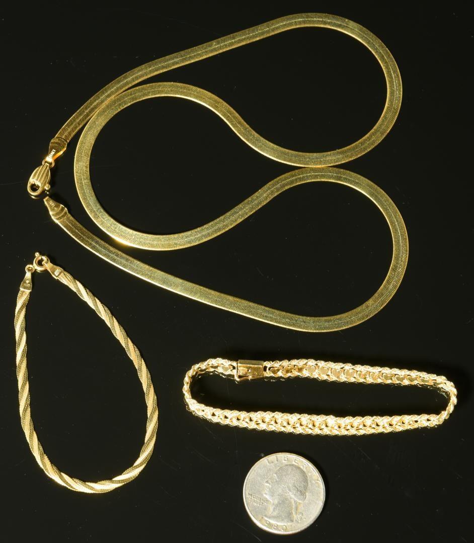 Lot 14: 14K Necklace & Bracelets