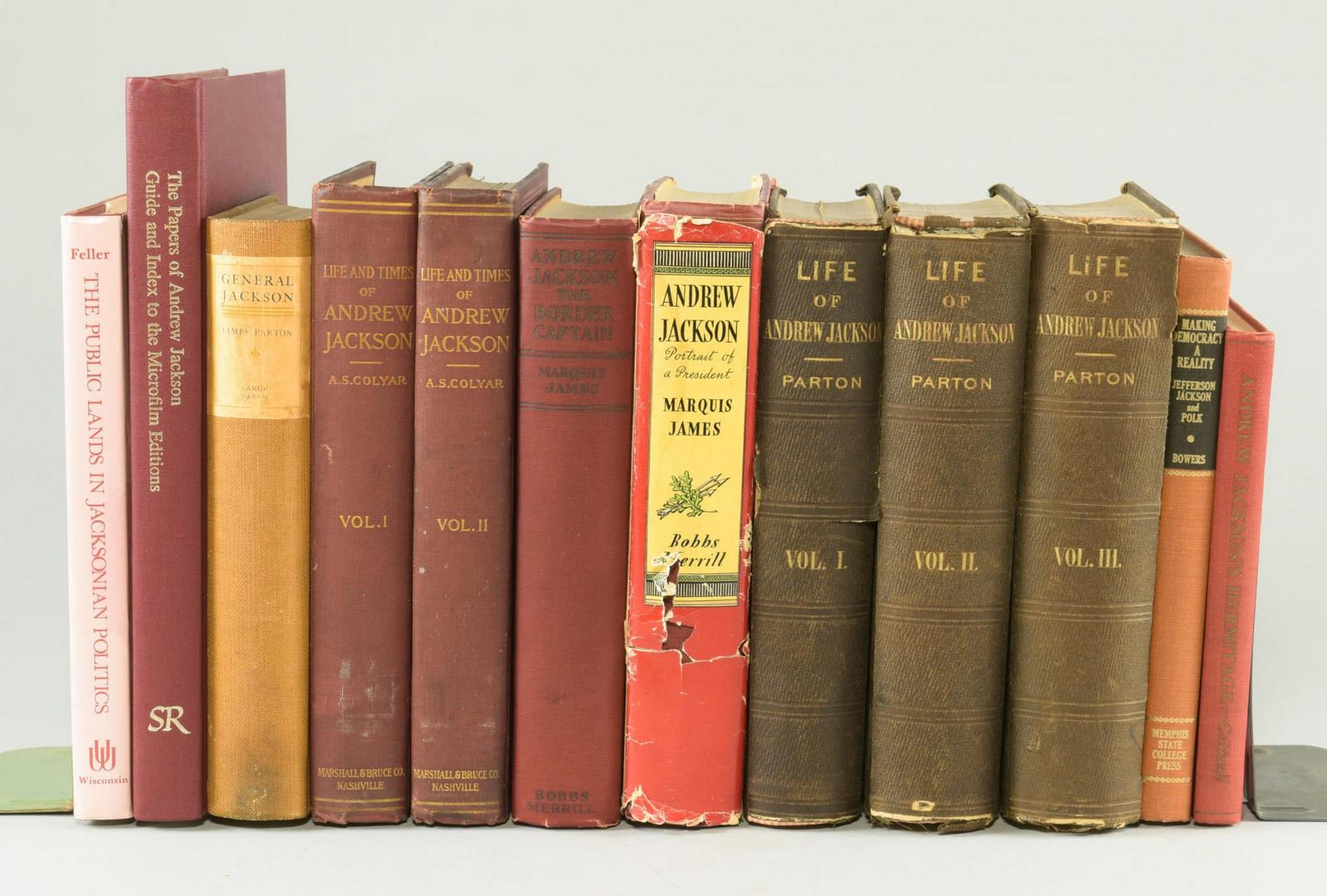 Lot 153: Lot of 12 Andrew Jackson Books
