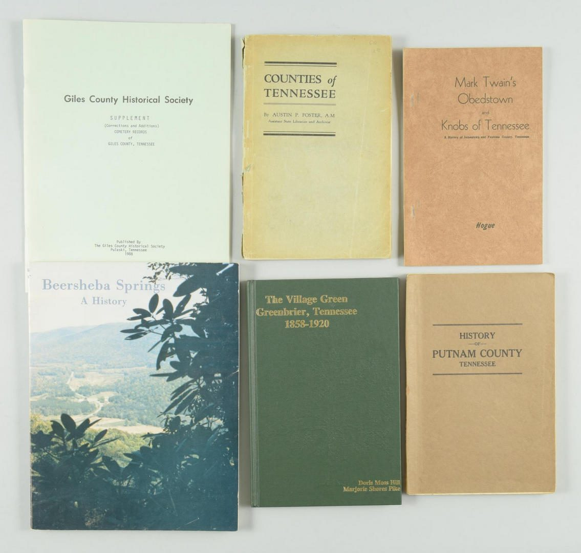 Lot 155: Lot of 12 Tennessee County History Books