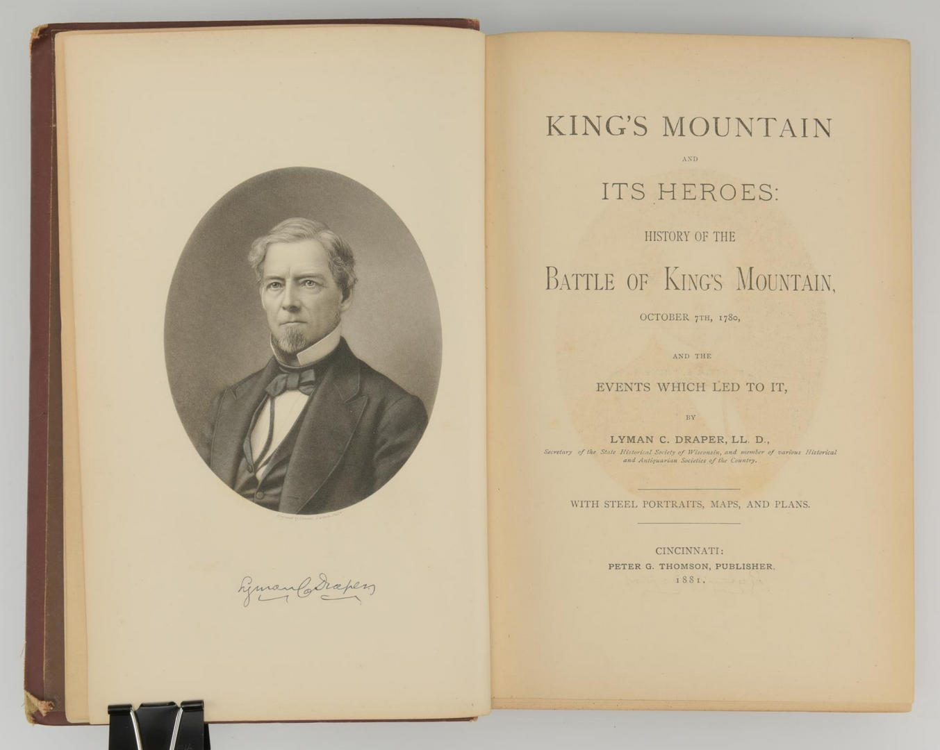 Lot 160: Draper, King's Mountain and It's Heroes, First Edition