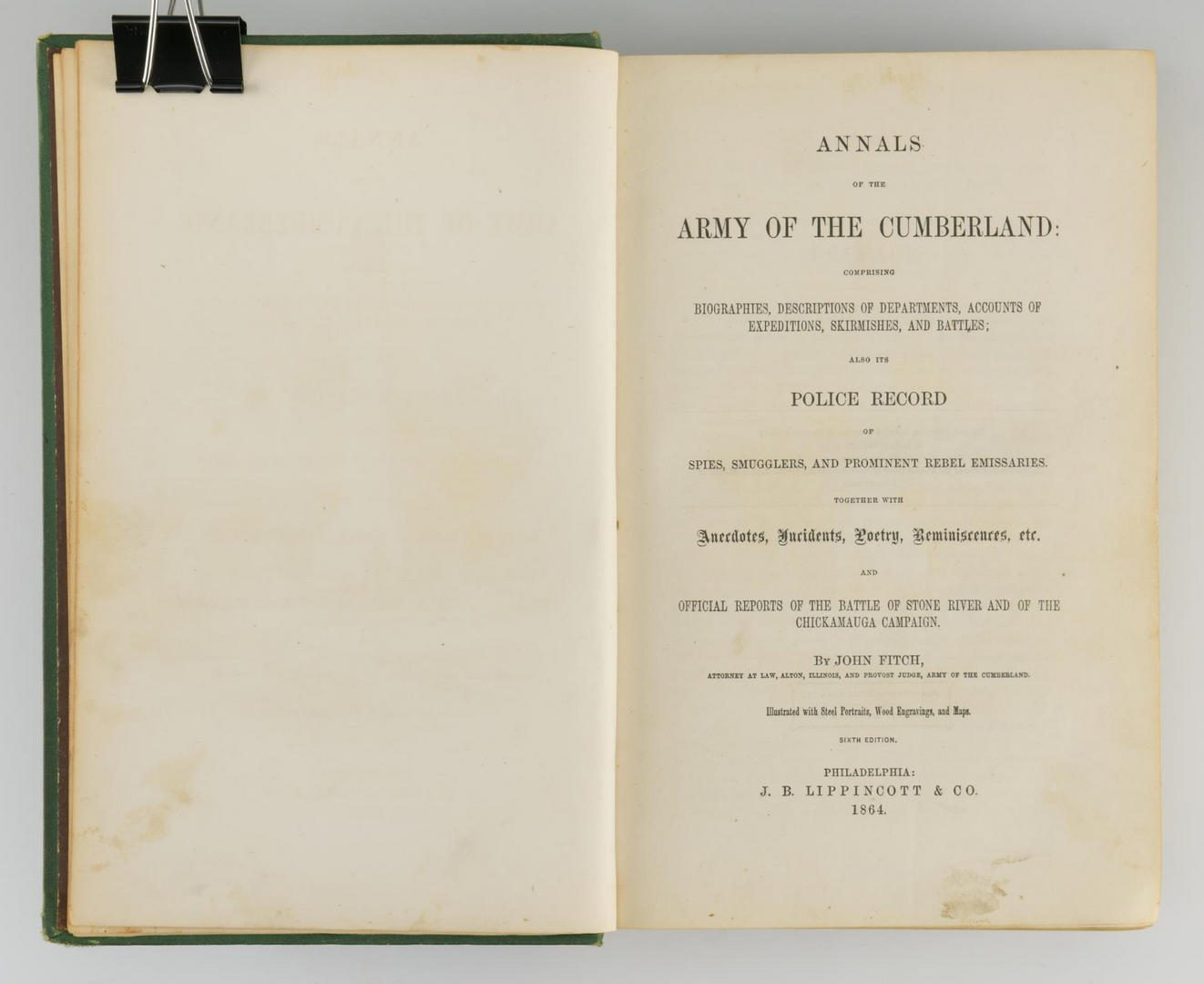 Lot 161: Fitch, Army of the Cumberland