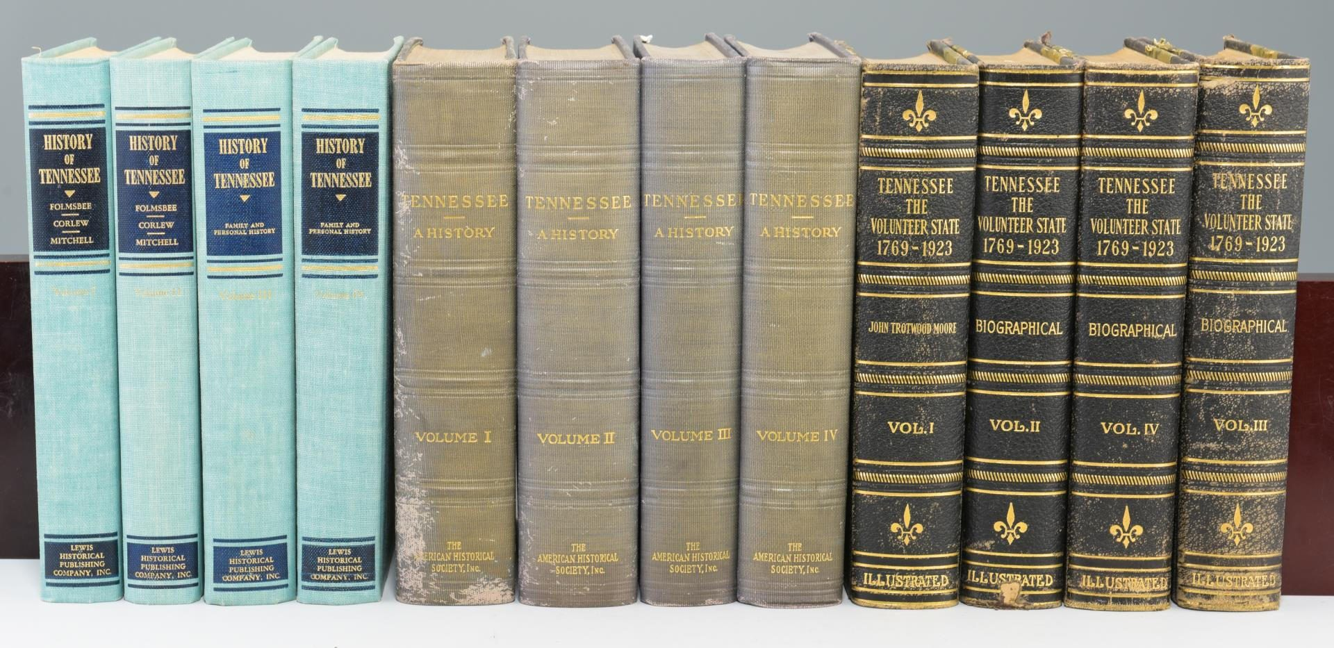 Lot 162: Three sets of Tennessee related books (12 total)