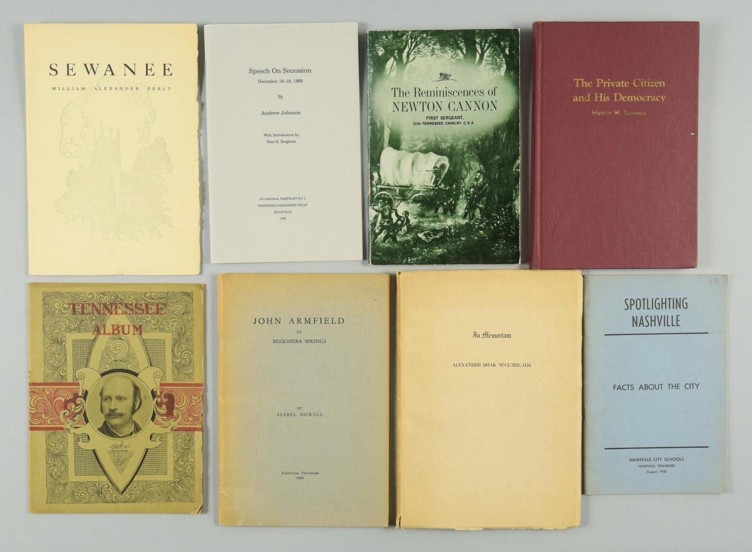 Lot 163: Lot of 16 Tennessee related books