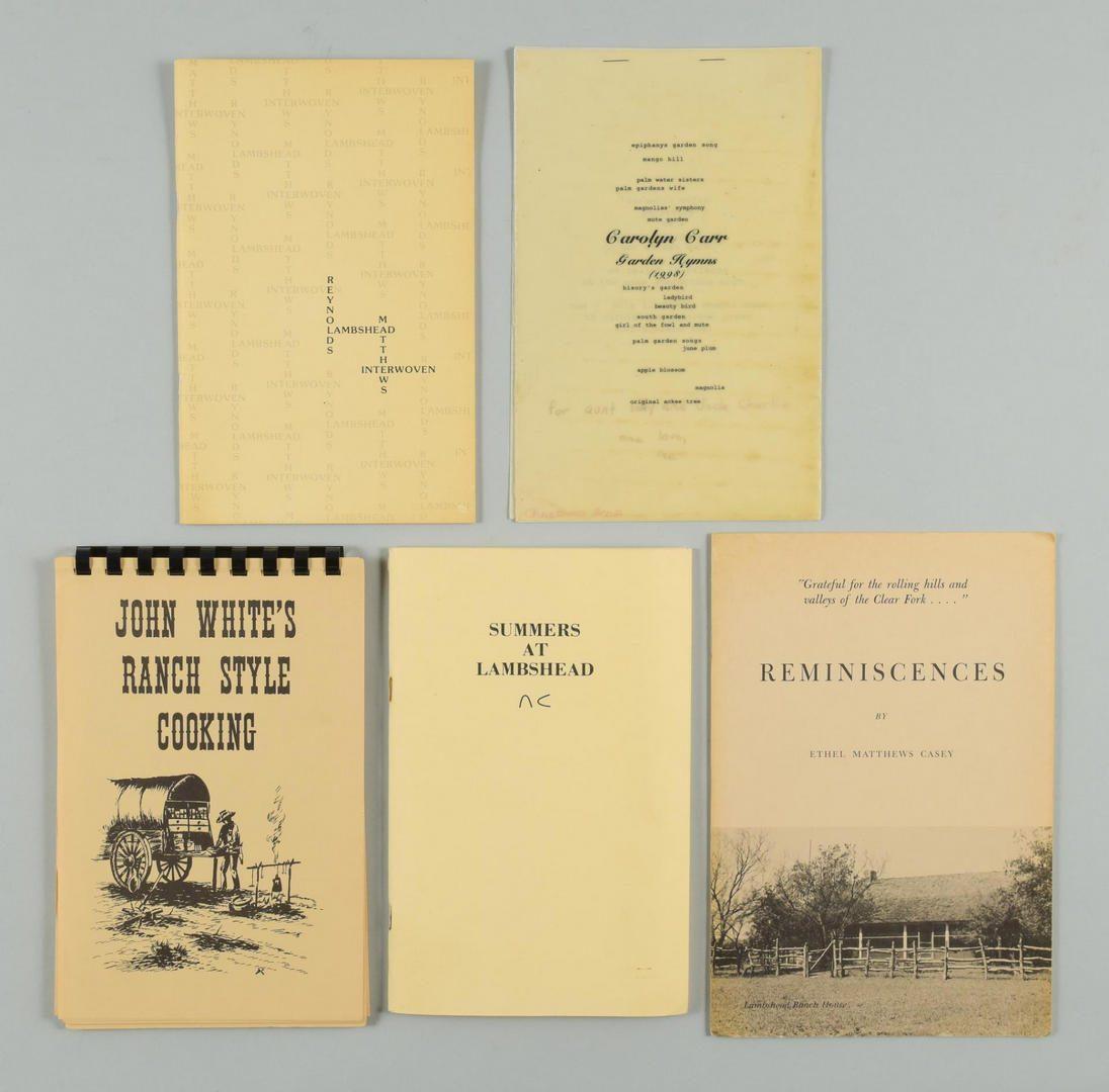 Lot 164: Lot of 8 items – Lambshead Ranch Texas History