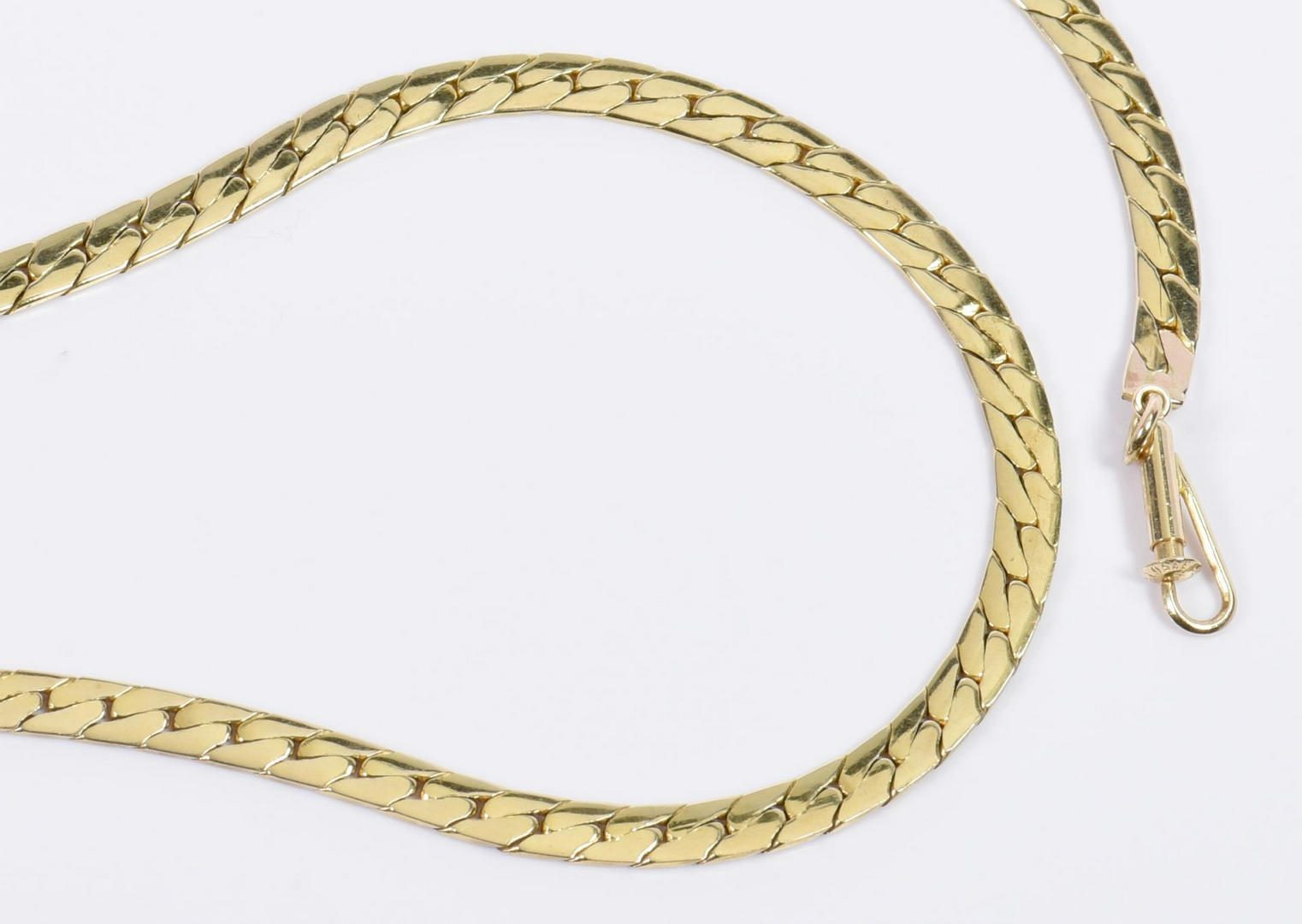 "Lot 16: 20"" L 14K Herringbone Necklace"
