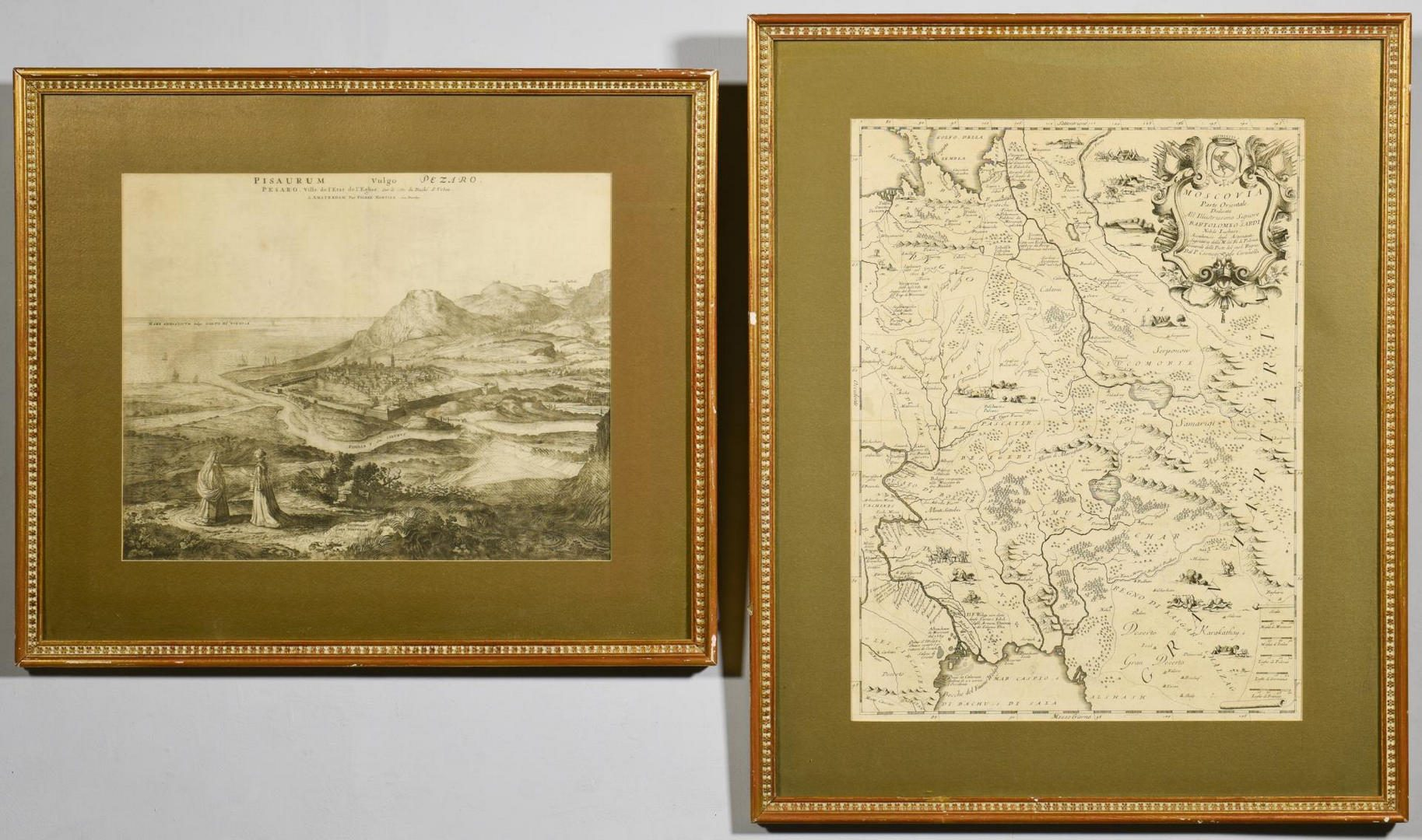 Lot 179: View of Pisa and Italian Map of Russia