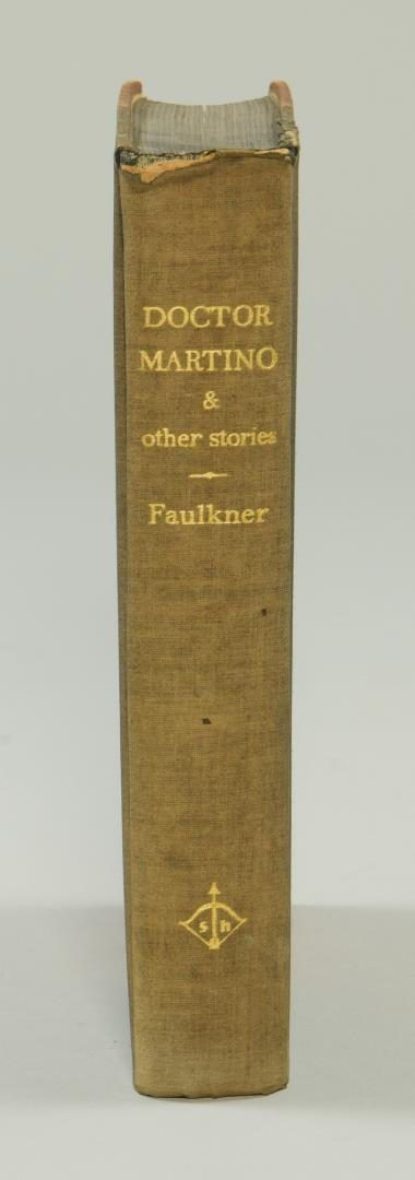 "Lot 182:  Signed William Faulkner Book , ""Doctor Martino & Other Stories"""
