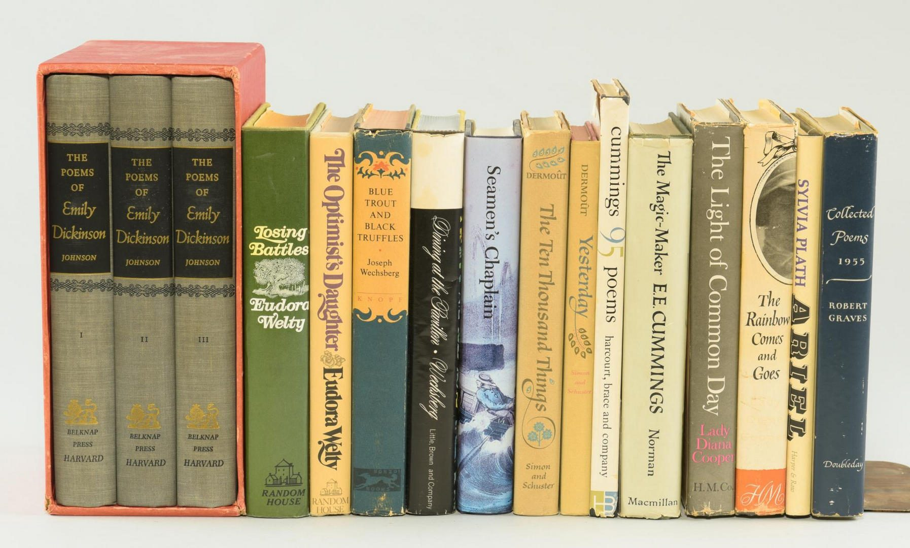 Lot 187: Lot of 36 Books: Assorted Literature incl Dickinson