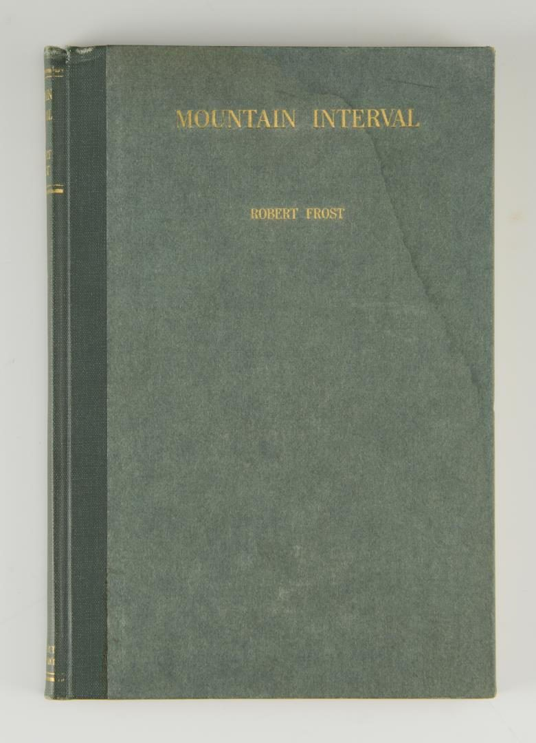Lot 191: Robert Frost signed Mountain Interval 1924