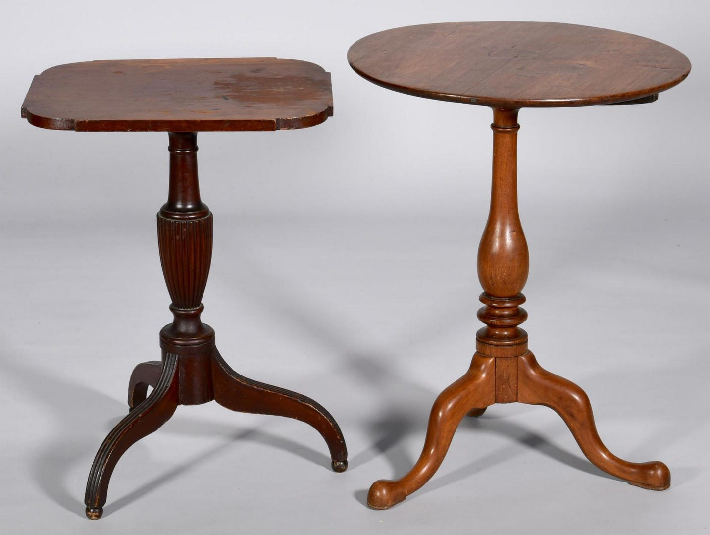 Lot 198: Tennessee Tea Table & Sheraton Candle Stand