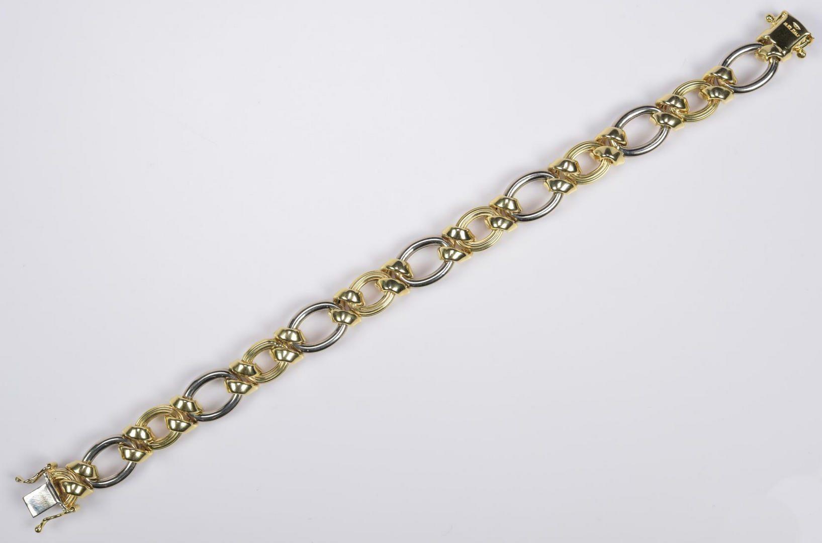 Lot 19: 14K Bi-Color Italian Bracelet