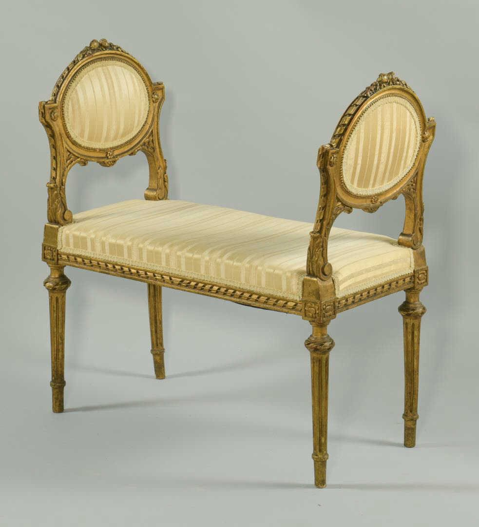 Lot 200: Louis XVI Giltwood Window Seat
