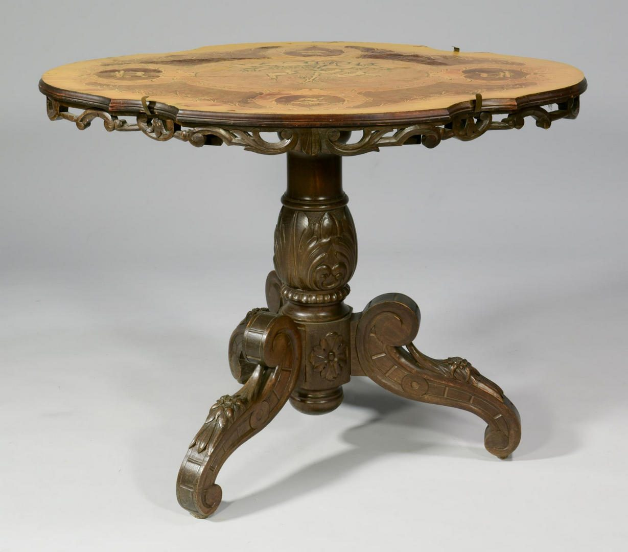 Lot 201: Edelweiss Brienz Table Suite w/ Music Box Chair
